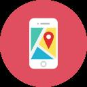 Smartphone maps localisation