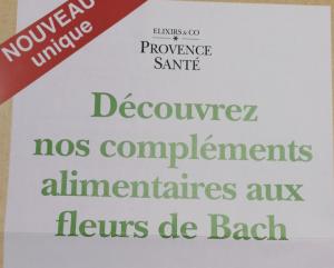 Elixirs & Co Fleurs de Bach - Compléments alimentaires animation vendredi 8 mars