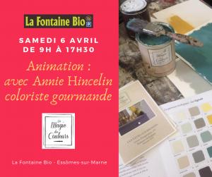 La Fontaine Bio - Samedi 6 avril Annie Hincelin