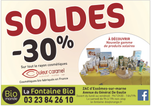 Promotions -30 % sur le rayon cosmétiques - Juillet 2019