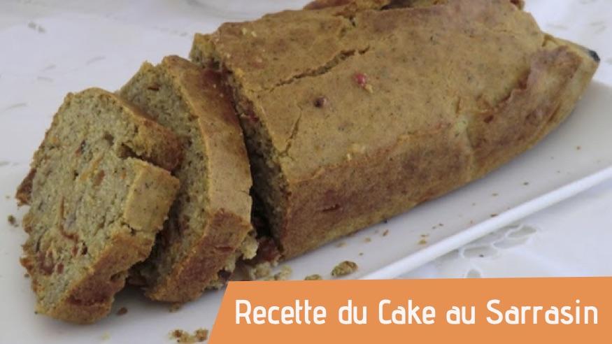 Couverture recette bio du Cake au Sarrasin