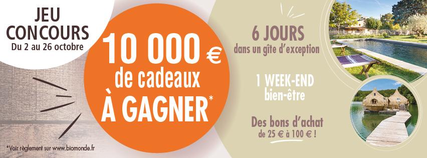 Jeu Concours #BioMonde 10 000€ de cadeaux à gagner
