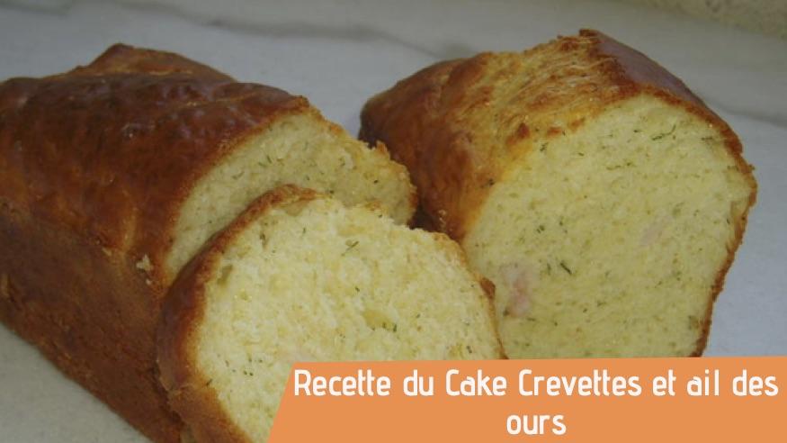 Couverture recette bio Cake Crevettes ail des ours
