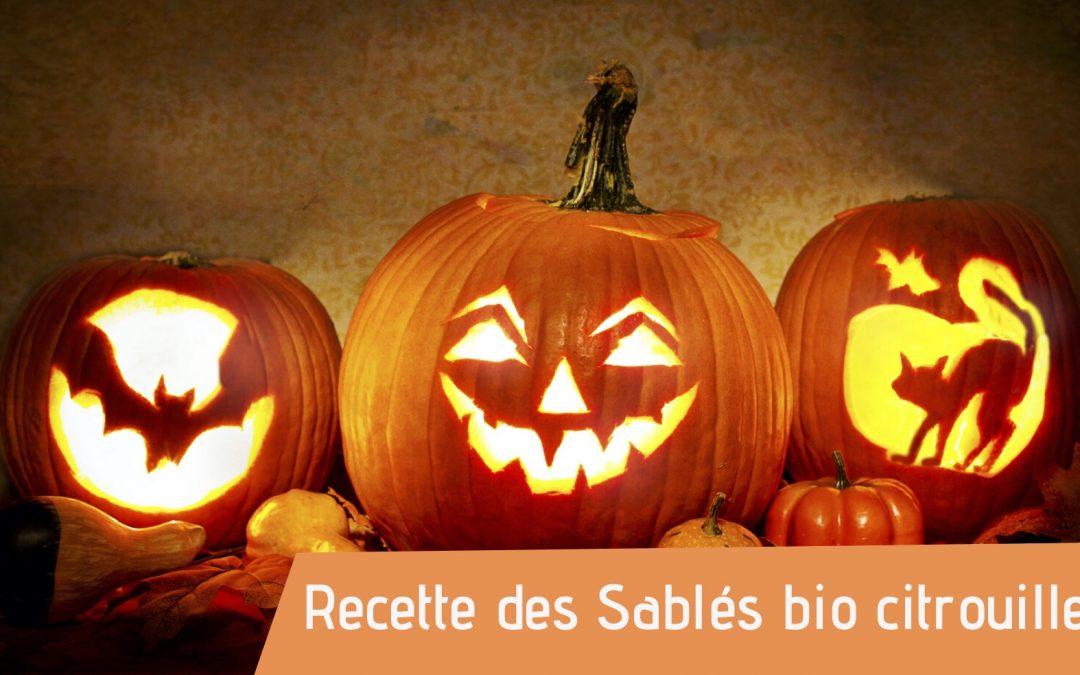 Couverture recette sablés bio recette pour Halloween