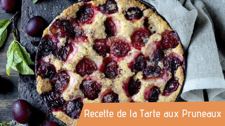 Couverture de la recette de la tarte aux pruneaux bio