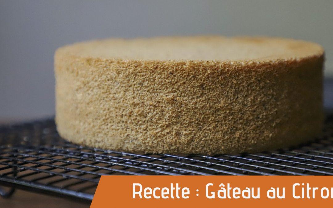 Affiche gâteau au citron pour recette bio gateau au citron bio