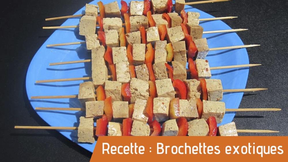 Brochettes de tofu recettes bio Essomes sur Marne