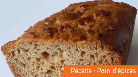 Couverture d'article de la recette bio du pain d'épices.