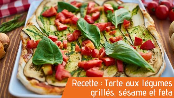 Couverture article tarte aux légumes grillés, recette bio