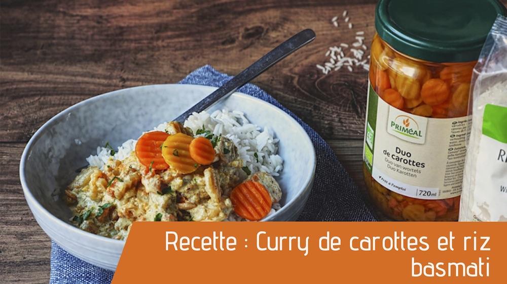 Recette : Curry de carottes et riz basmati