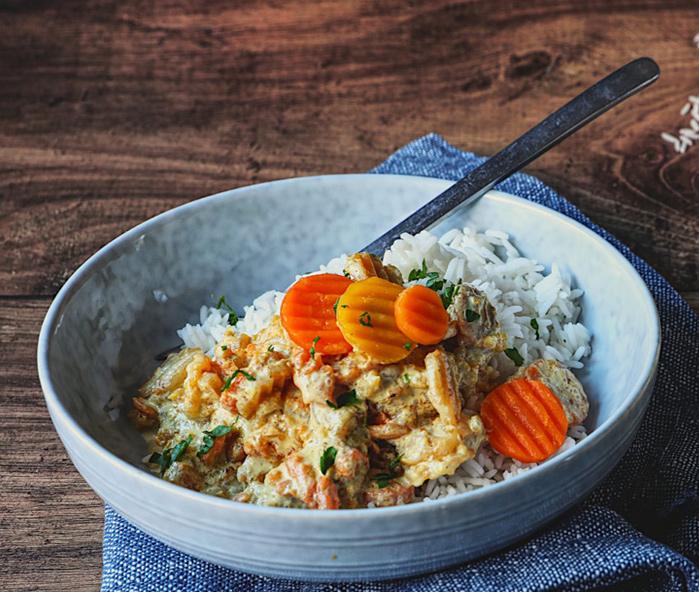 recette bio château-thierry curry de carottes et riz