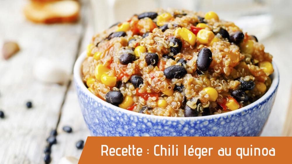 Recette : Chili léger au quinoa