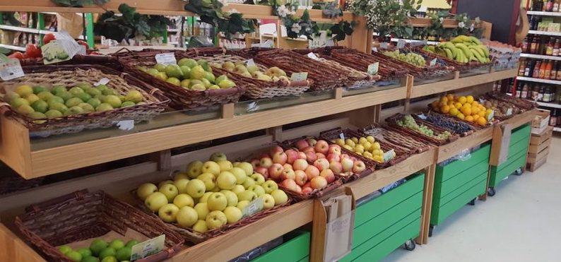Etalage de légumes bio