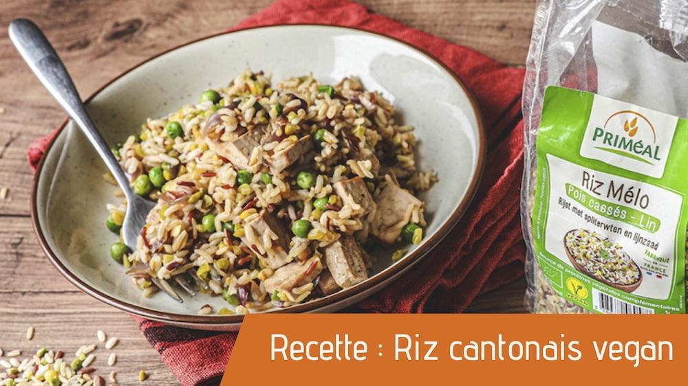 Recette : Riz cantonais vegan