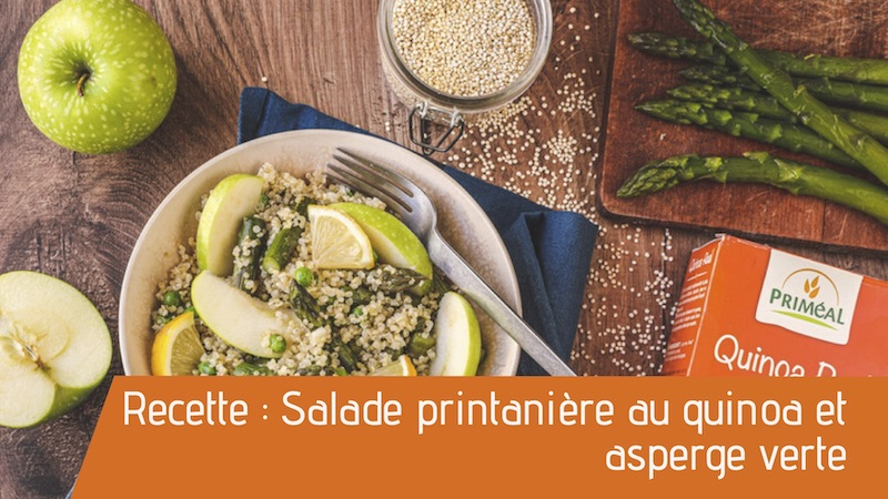 Recette : Salade printanière au quinoa et asperge verte
