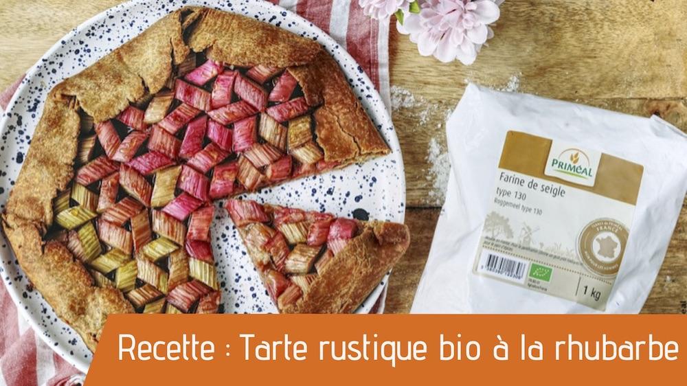 Recette bio de la tarte à la rhubarbe