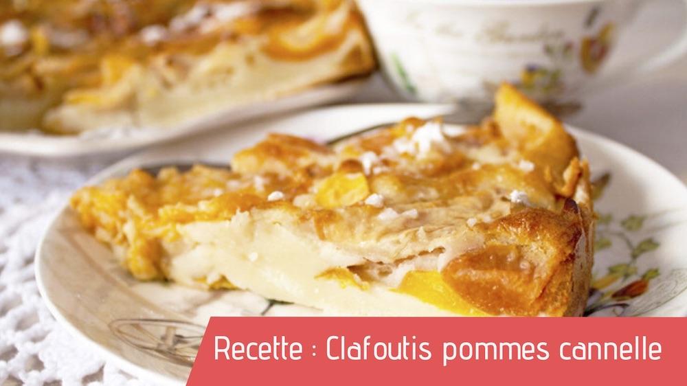 Recette : Clafoutis pommes & cannelle