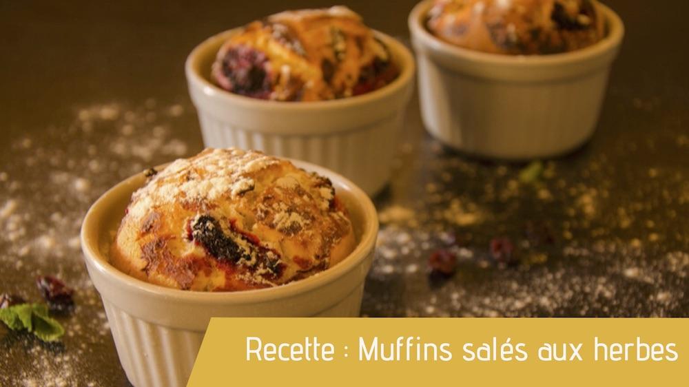 Recette : Muffins salés aux herbes
