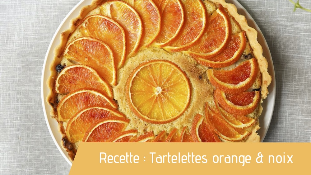 tartelettes orange noix bio