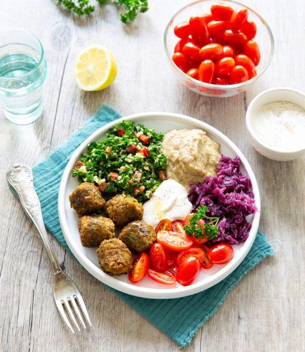 Recette assiette libanaise bio