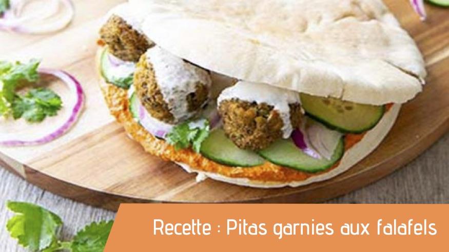 Recette : Pitas garnies aux falafels