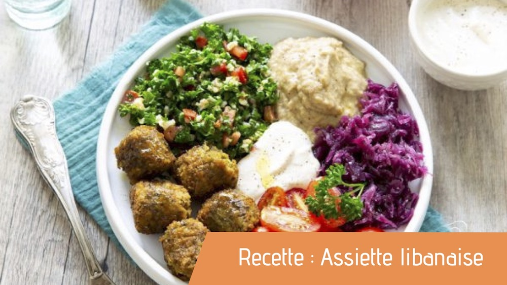 Assiette libanaise bio