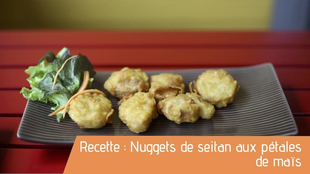 Recette : Nuggets de seitan aux pétales de maïs