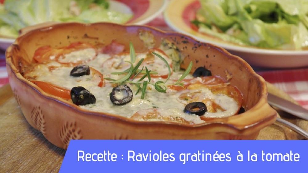 Recette : Ravioles gratinées à la tomate