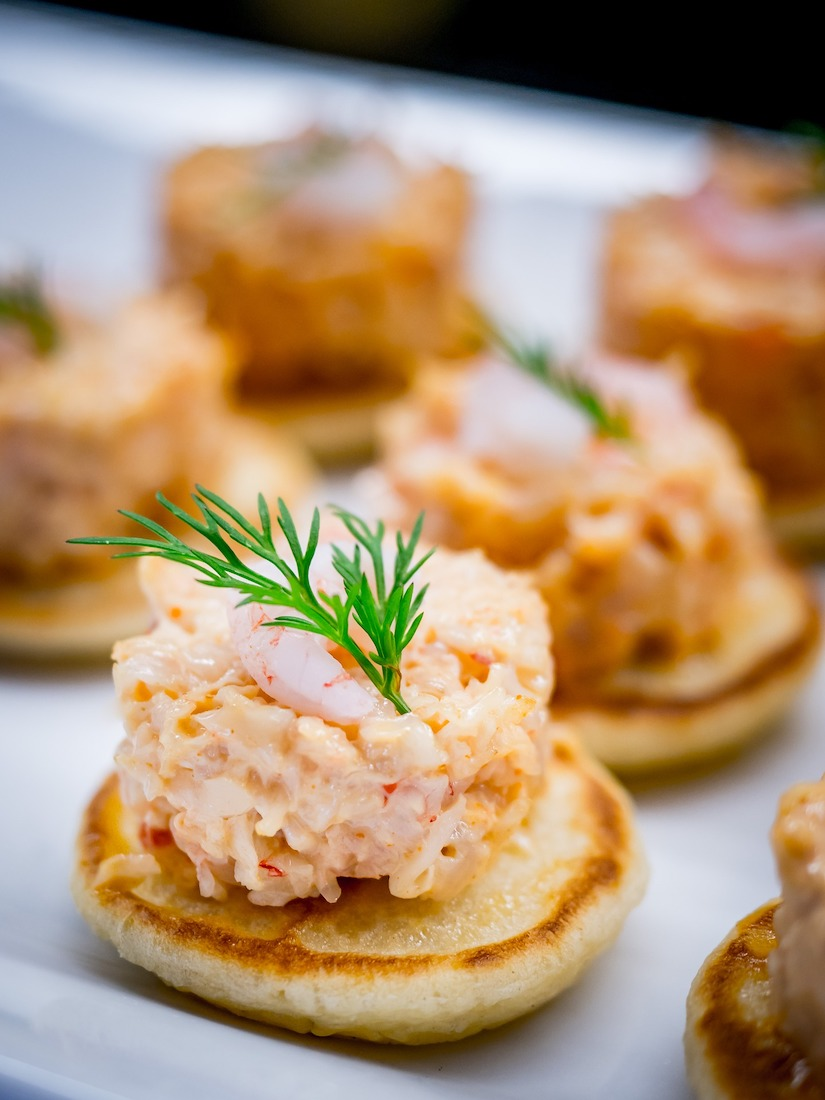 blinis sur toasts