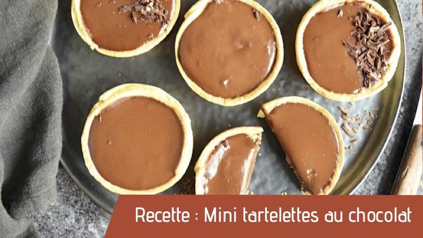 Recette : Mini tartelettes au chocolat