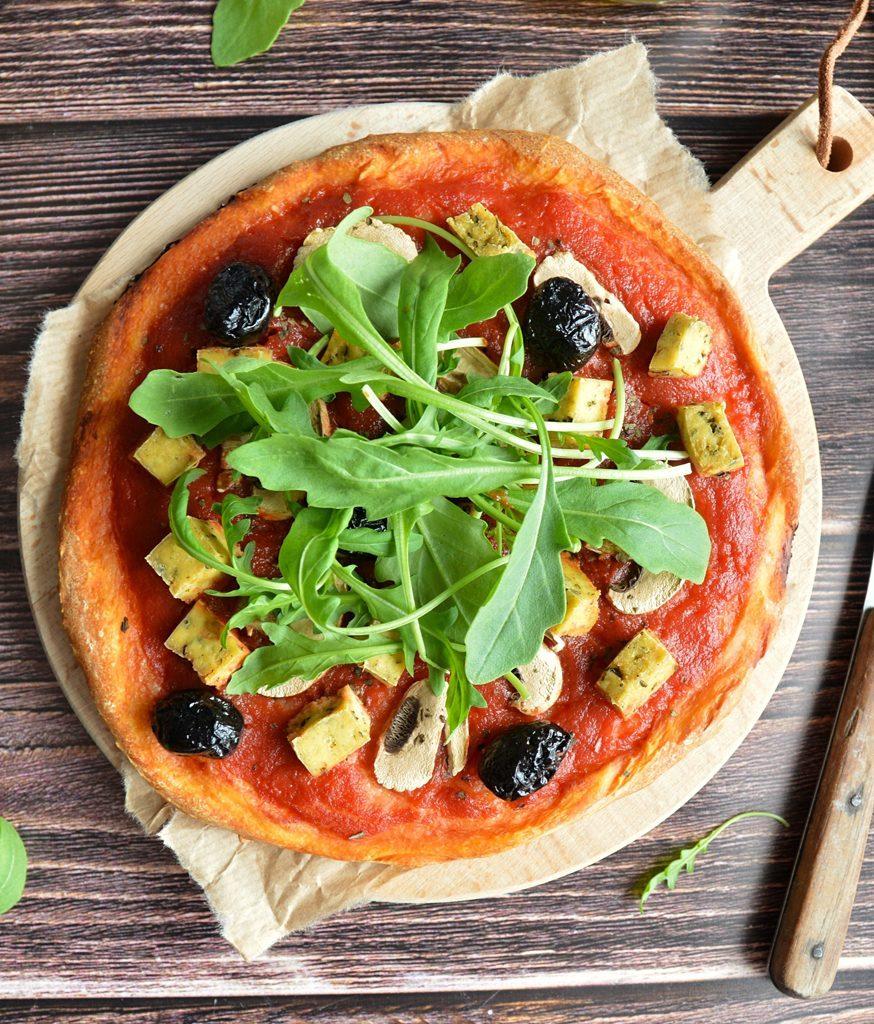 Recette pizza vegan au tofu