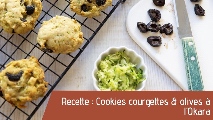 Recette : Cookies courgettes & olives à l'Okara