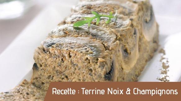 Recette : Terrine noix & champignons